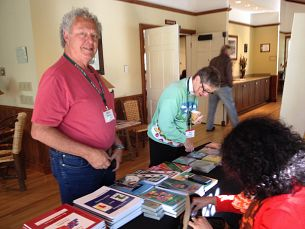Eugenia (Maria) Cohen selling books at Mohonk Event 2014