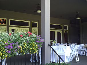 Lunch Set on the Patio at Lake Toxaway CC, NC