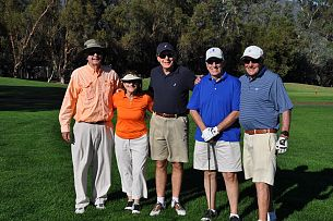 Larry Golfing with his Students at the Ojai Valley Inn