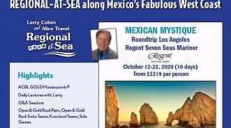 California/Mexico Luxury Regional at Sea with Larry Cohen