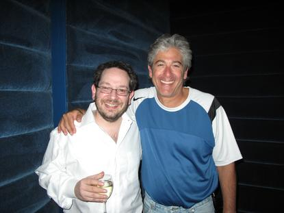Steve Weinstein & Bobby Levincelebrating their 2009 Cavendish win