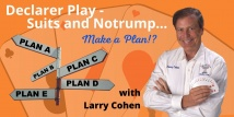 Larry Teaches - OMS Declarer Play - All 6 Webinars (Previously aired 1/7/21-2/11/21)